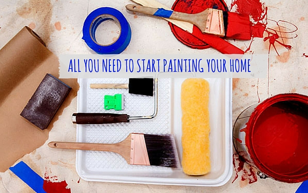 all you need before start a painting procedure at home